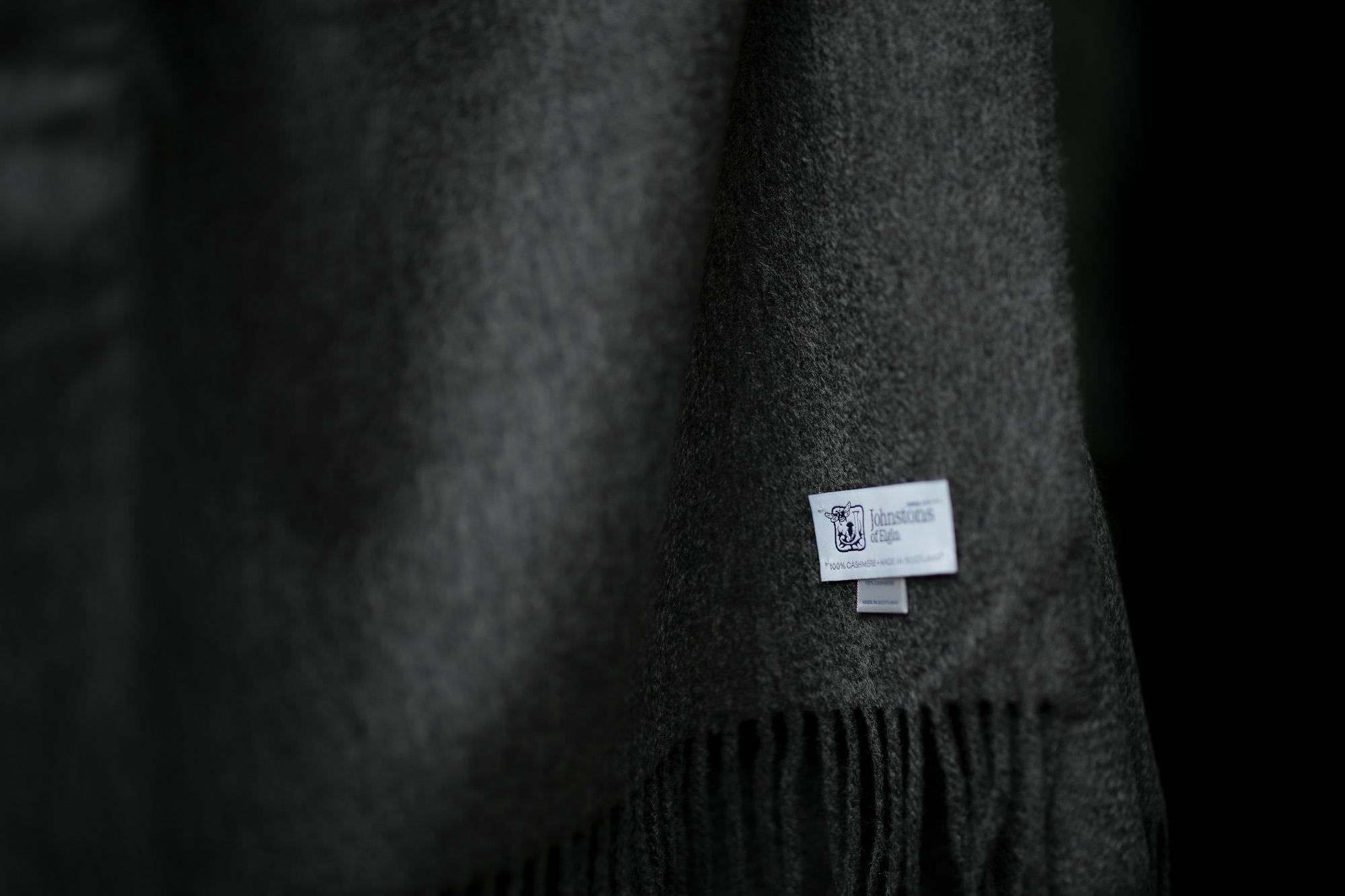 Johnstons (ジョンストンズ) WA56 STOLE Cashmere 100% カシミア 大判 ストール Mid Grey (ミッドグレー・HA0501) Made in Scotland (スコットランド製) 2018 秋冬新作 愛知 名古屋 alto e diritto アルトエデリット altoediritto