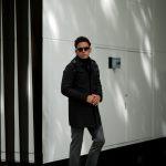 KIRED (キーレッド) CRUZ (クルス) LoroPiana (ロロピアーナ) レーザーカット フーデッド コート BLACK (ブラック・23) Made in italy (イタリア製) 2018 秋冬新作のイメージ
