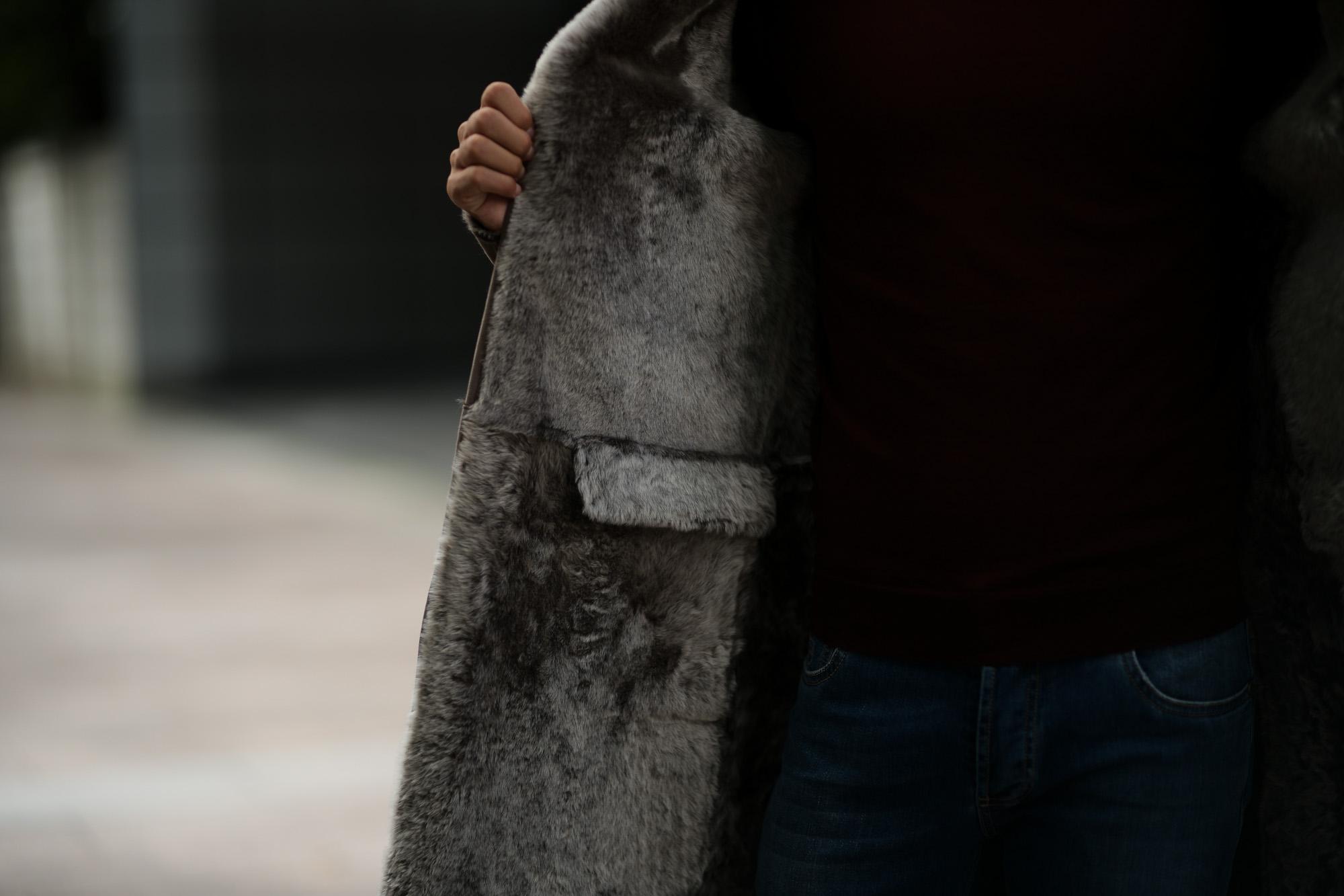 MANZONI 24 (マンツオーニ 24) Chester mouton coat (チェスター ムートン コート) Mouton (ムートン) リバーシブル ロング ムートンコート WOOD (ブラウン) Made in italy (イタリア製) 2018 秋冬新作 manzoni24 愛知 名古屋 altoediritto アルトエデリット