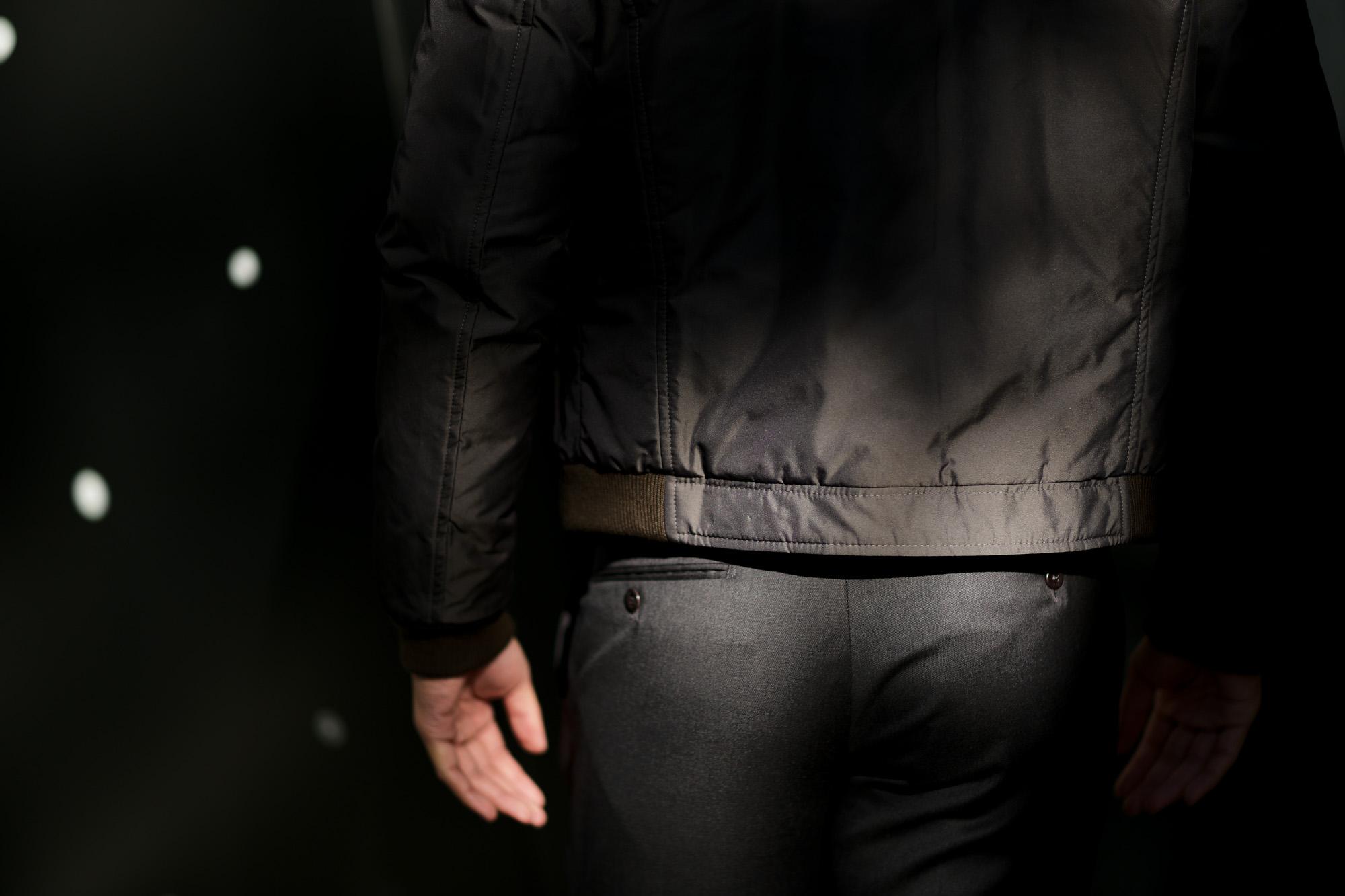 MOORER (ムーレー) CELOTTI-KM (チェロッティ) ホワイトグースダウン スタンドカラー ナイロン ダウン ブルゾン ANTRACITE (チャコール) Made in italy (イタリア製) 2018 秋冬新作 愛知 名古屋 ALTO E DIRITTO アルトエデリット