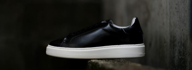 PATRICK(パトリック) CRUISE LINE クルーズライン GENOVA (ジェノバ) Annonay Vocalou Calf Leather (アノネイ社 ボカルーカーフ レザー) ローカット レザー スニーカー BLACK (ブラック・BLK) MADE IN JAPAN(日本製)【1st コレクション // 復刻モデル】【スペシャル限定モデル】【第4便入荷】【フリー分販売開始】【第5便ご予約受付中】のイメージ