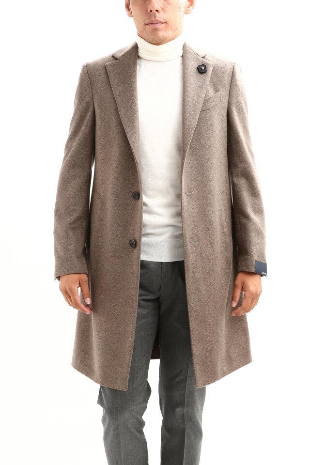 LARDINI (ラルディーニ) Cashmere Spolverino Chester coat (カシミヤ スポルベリーノ チェスターコート) カシミヤフラノ生地 シングル チェスターコート BEIGE (ベージュ・1) Made in italy (イタリア製) 2018 秋冬新作