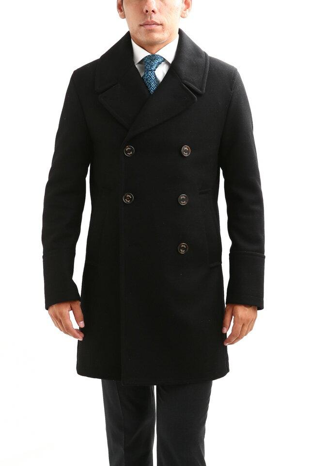 Sealup(シーラップ) GENOVA(ジェノバ) 50002 7591 01 メルトンウール サーモアライニング ロングPコート Pコート ロングピーコート BLACK(ブラック・36)  MADE IN ITALY(イタリア製) 2018 秋冬新作