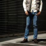 RICHARD J. BROWN (リチャード ジェイ ブラウン) Cortina (コルティーナ) Denim Cashmere (ストレッチデニムカシミア) ジーンズ デニムパンツ BLUE (ブルー・T27 W836) MADE IN ITALY (イタリア製) 2018 秋冬新作のイメージ