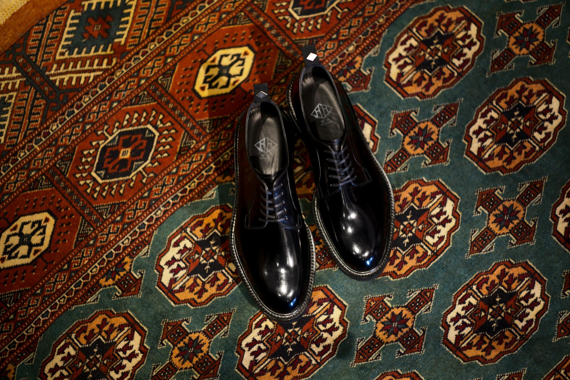 WH (ダブルエイチ) WHZ-0010 Cordovan Plane Toe Shoes (干場氏 スペシャル Zモデル) Birdie Last (バーディラスト) Shell Cordovan シェルコードバンレザー プレーントゥシューズ BLACK (ブラック) MADE IN JAPAN (日本製) 2018 秋冬 【Special限定モデル】【12月01日発売分】【ご予約受付中】 愛知 名古屋 alto e diritto altoediritto アルトエデリット