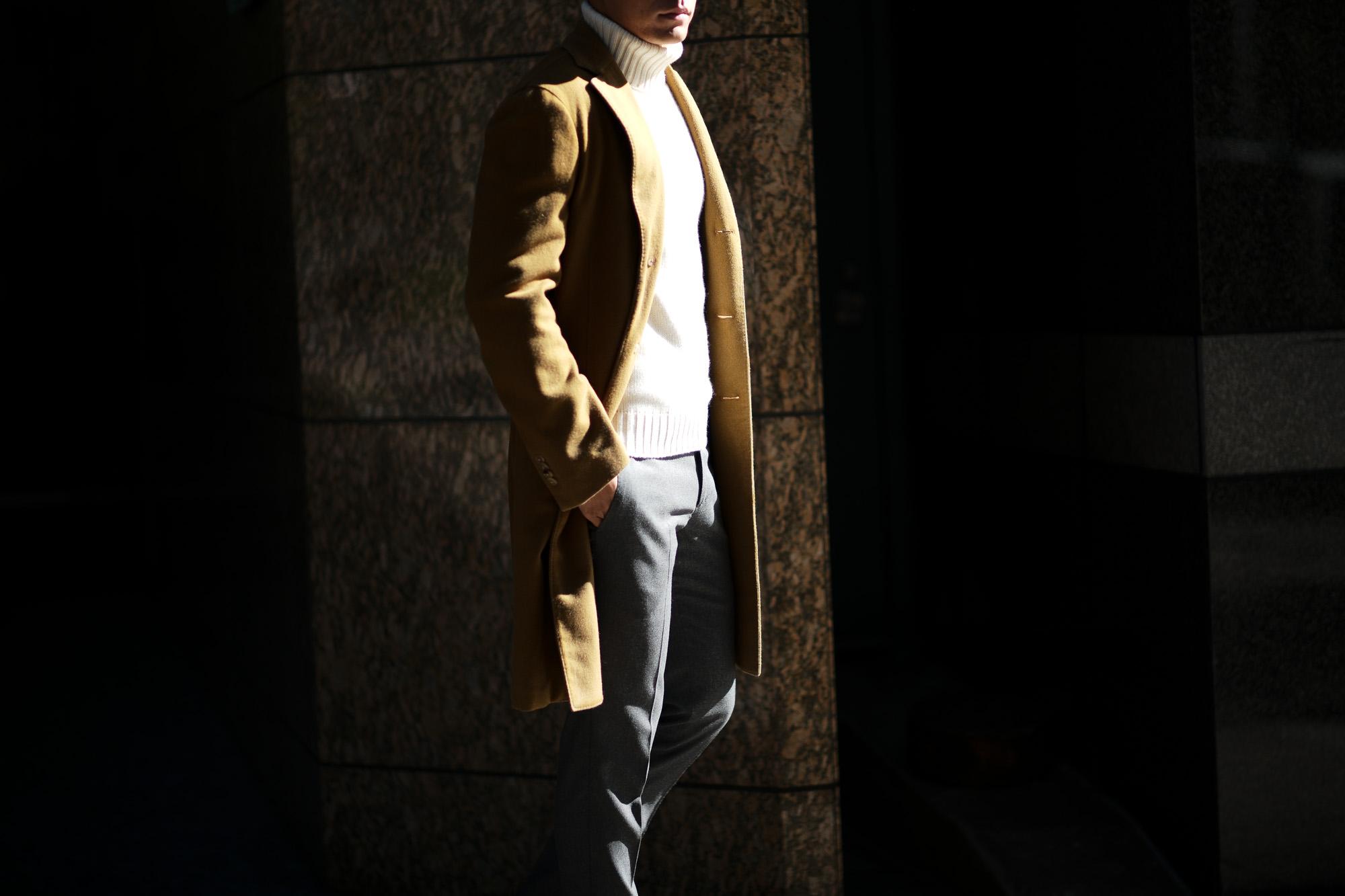 BOGLIOLI MILANO (ボリオリ ミラノ) CHESTER COURT (チェスターコート) フラノウール生地 シングル チェスターコート BEIGE (ベージュ・34) Made in italy (イタリア製) 2018 秋冬新作 boglioli 愛知 名古屋 alto e diritto アルトエデリット