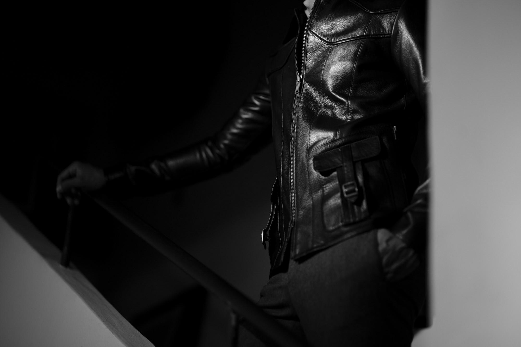 Cuervo (クエルボ) Satisfaction Leather Collection (サティスファクション レザー コレクション) East West(イーストウエスト)  SMOKE(スモーク) BUFFALO LEATHER (バッファロー レザー) レザージャケット BLACK(ブラック) MADE IN JAPAN (日本製) 2019 春夏  愛知 名古屋 altoediritto アルトエデリット 洋服屋 レザージャケット サウスパラディソ eastwest