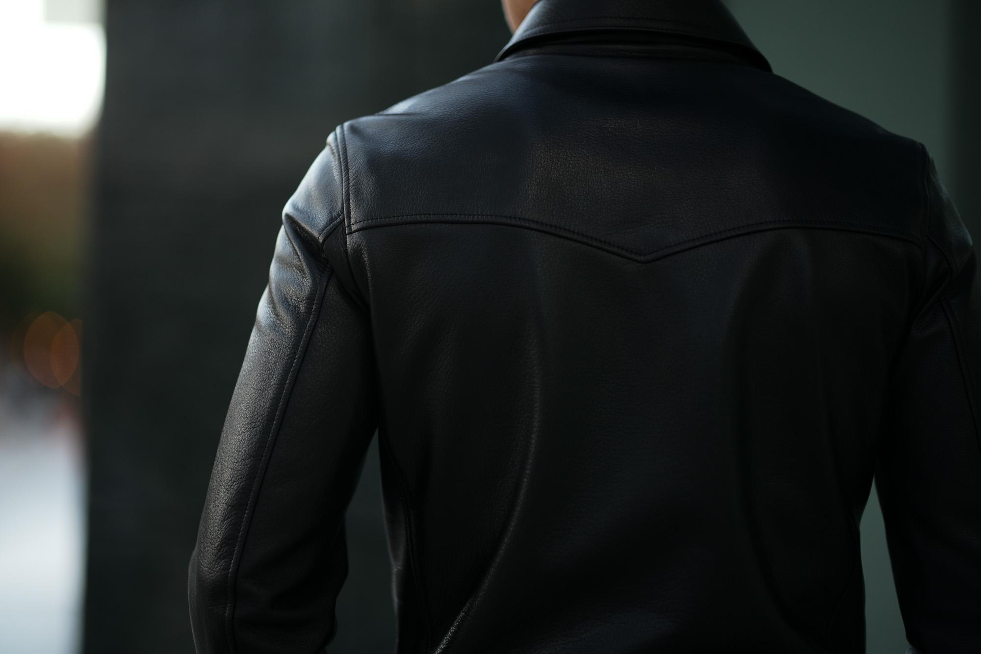 Cuervo (クエルボ) Satisfaction Leather Collection (サティスファクション レザー コレクション) TOM (トム) BUFFALO LEATHER (バッファロー レザー) シングル ライダース ジャケット BLACK (ブラック) MADE IN JAPAN (日本製) 2019 春夏 クエルボ レザージャケット 愛知 名古屋 alto e diritto アルトエデリット セレクトショップ