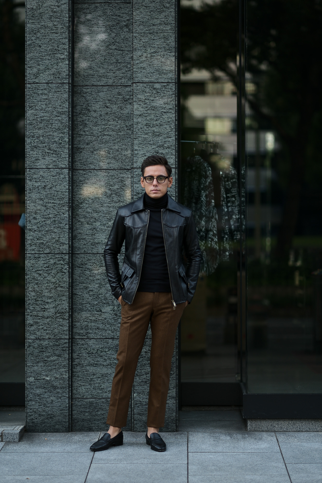 Cuervo (クエルボ) Satisfaction Leather Collection (サティスファクション レザー コレクション) East West(イーストウエスト)  SMOKE(スモーク) BUFFALO LEATHER (バッファロー レザー) レザージャケット BLACK(ブラック) MADE IN JAPAN (日本製) 2019 春夏 【ご予約開始】 愛知 名古屋 altoediritto アルトエデリット 洋服屋 レザージャケット サウスパラディソ eastwest