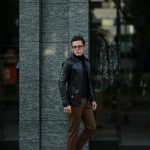 Cuervo (クエルボ) Satisfaction Leather Collection (サティスファクション レザー コレクション) East West(イーストウエスト)  SMOKE(スモーク) BUFFALO LEATHER (バッファロー レザー) レザージャケット BLACK(ブラック) MADE IN JAPAN (日本製) 2019 春夏 【ご予約開始】のイメージ