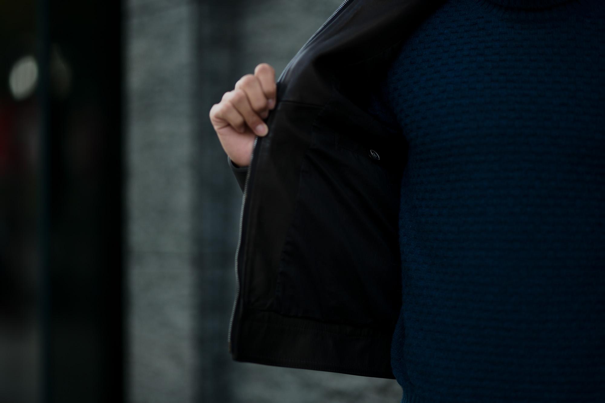 EMMETI(エンメティ) JURI(ユリ) Lambskin nappa Leather シングルライダース レザージャケット NERO (ブラック) made in italy (イタリア製) 2019 春夏【2019年春夏第1便ご予約開始】 愛知 alto e diritto アルトエデリット altoediritto 干場さん 干場着 ユーリ