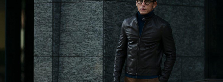 EMMETI(エンメティ) JURI(ユリ) Lambskin nappa Leather シングルライダース レザージャケット NERO (ブラック) made in italy (イタリア製) 2019 春夏【2019年春夏第1便ご予約受付中】のイメージ