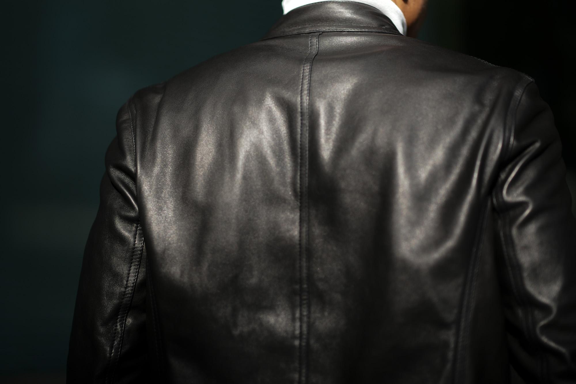 EMMETI(エンメティ) JURI(ユリ) Lambskin nappa Leather シングルライダース レザージャケット NERO (ブラック) made in italy (イタリア製) 2019 春夏【2019年春夏第1便ご予約受付中】愛知 alto e diritto アルトエデリット altoediritto 干場さん 干場着 ユーリ