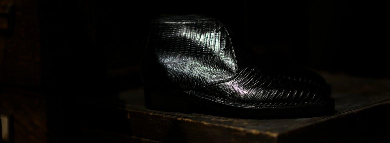 ENZO BONAFE (エンツォボナフェ) ART.3722 Chukka boots TEJUS (テジュー) リザードレザー チャッカブーツ TEJUS NERO (ブラック) made in italy (イタリア製) 2018 秋冬新作のイメージ