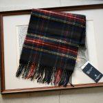 Johnstons (ジョンストンズ) WA16 MUFFLER SCARF Cashmere 100% カシミア マフラー Black Stewart (ブラックスチュワート・KU0324) Made in Scotland (スコットランド製) 2018 秋冬新作のイメージ