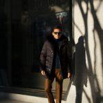 MOORER (ムーレー) BARBIERI-KM(バルビエリ) ホワイトグースダウン ナイロン フーデッド ダウンコート NERO(ブラック) Made in italy (イタリア製) 2018 秋冬新作のイメージ