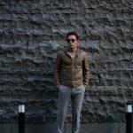 Radice (ラディーチェ) 1019NL LEATHER HOODIE JACKET (レザーフーディージャケット) ラムナッパレザー レザージャケット TABACCO (タバコ) MADE IN ITALY (イタリア製) 2018 秋冬新作のイメージ