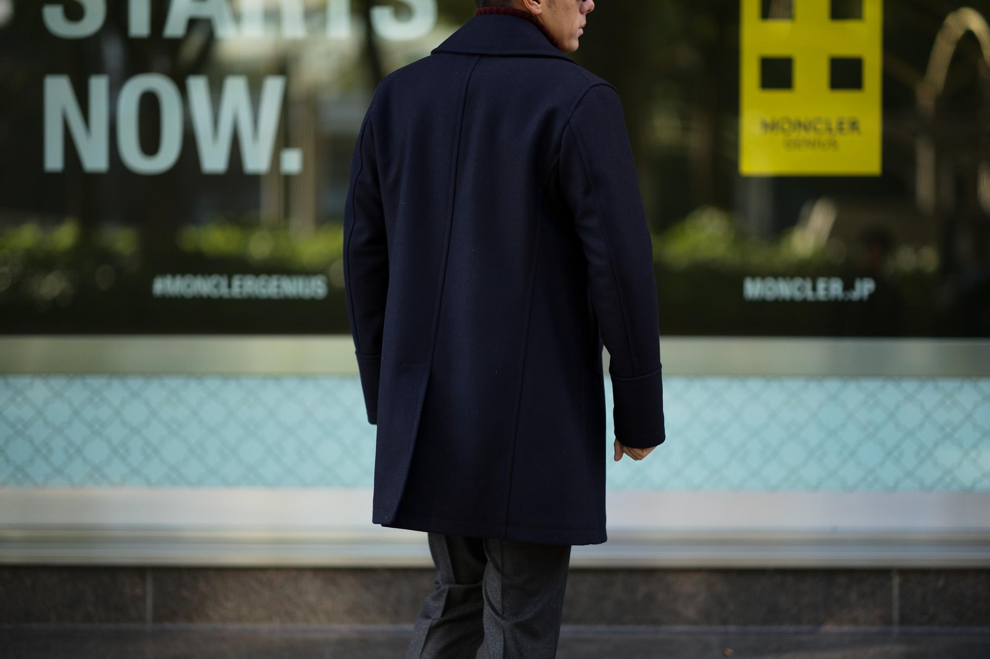 Sealup(シーラップ) GENOVA(ジェノバ) 50002 7591 01 メルトンウール サーモアライニング ロングPコート  NAVY (ネイビー・01) MADE IN ITALY(イタリア製) 2018 秋冬新作 シーラップ 愛知 名古屋 Alto e Diritto アルト エ デリット Pコート コート coat