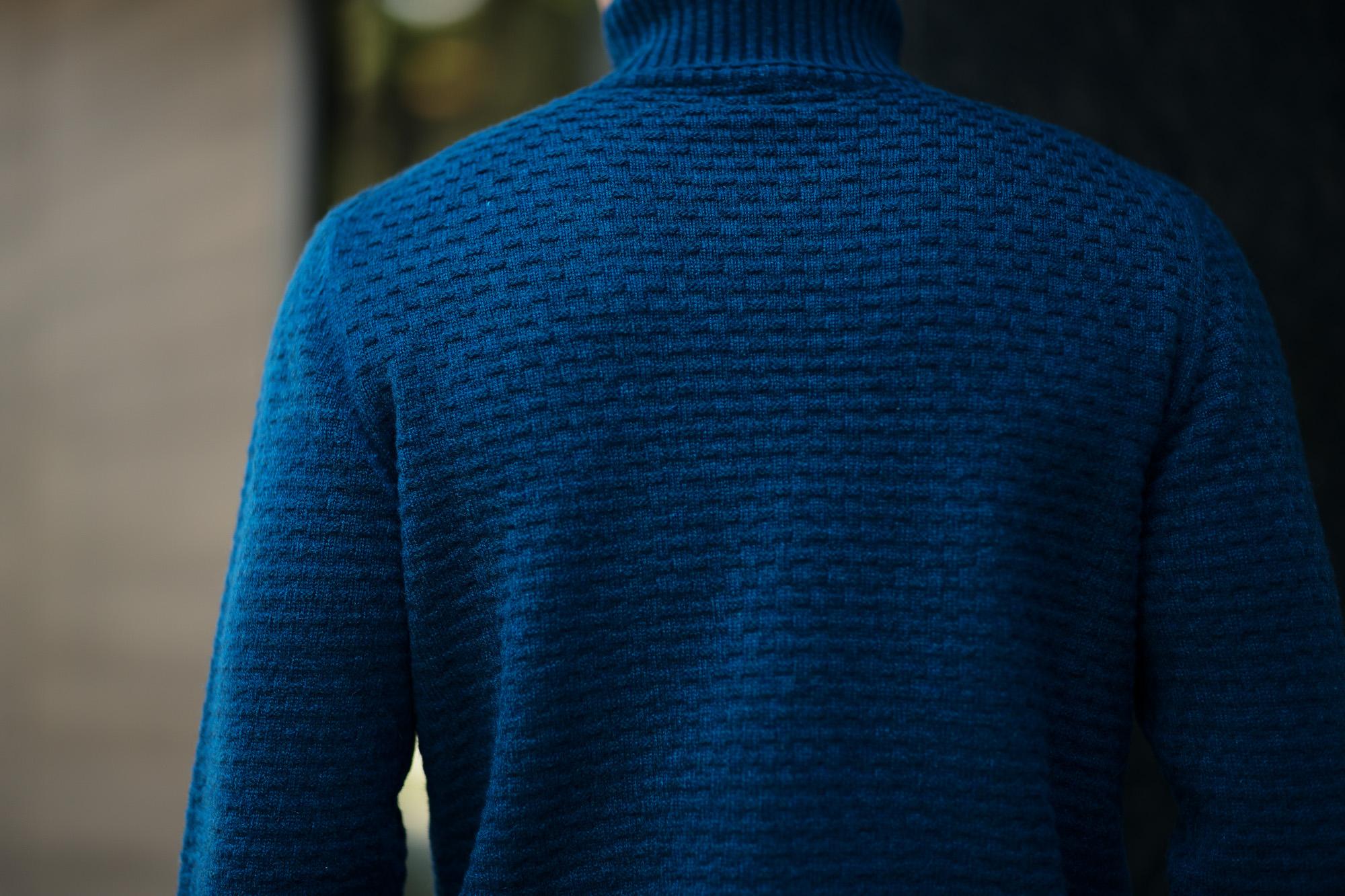 Settefili Cashmere (セッテフィーリ カシミア) Dolcevita Lavoraz LINKS (カシミア タートルネック セーター) ミドルゲージ カシミア ニット セーター BLUE (ブルー・CG267) made in italy (イタリア製) 2018 秋冬新作 settefilicashnere セッテフィーリカシミア カシミヤ 愛知 名古屋 alto e diritto アルトエデリット