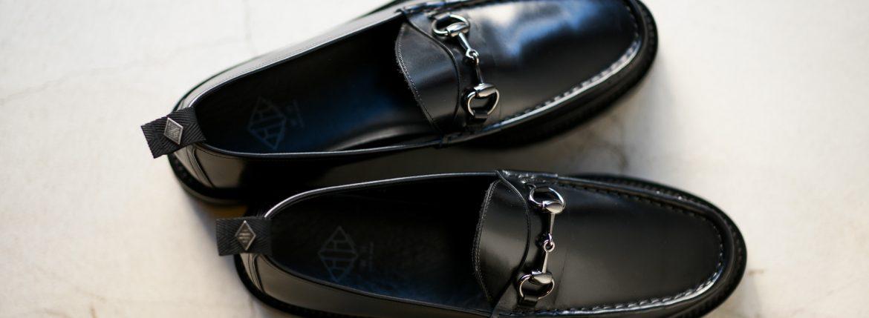 WH (ダブルエイチ) WHZ-0504 Bit Loafer (干場氏 別注 店舗限定 スペシャル モデル) TOOL-442 Last (トゥルー 442 ラスト) ANNONAY Vocalou Calf Leather ビットローファー ALL BLACK (オールブラック・BLK) MADE IN JAPAN(日本製) 2018秋冬 【限定スペシャルモデル】【ご予約受付中】のイメージ