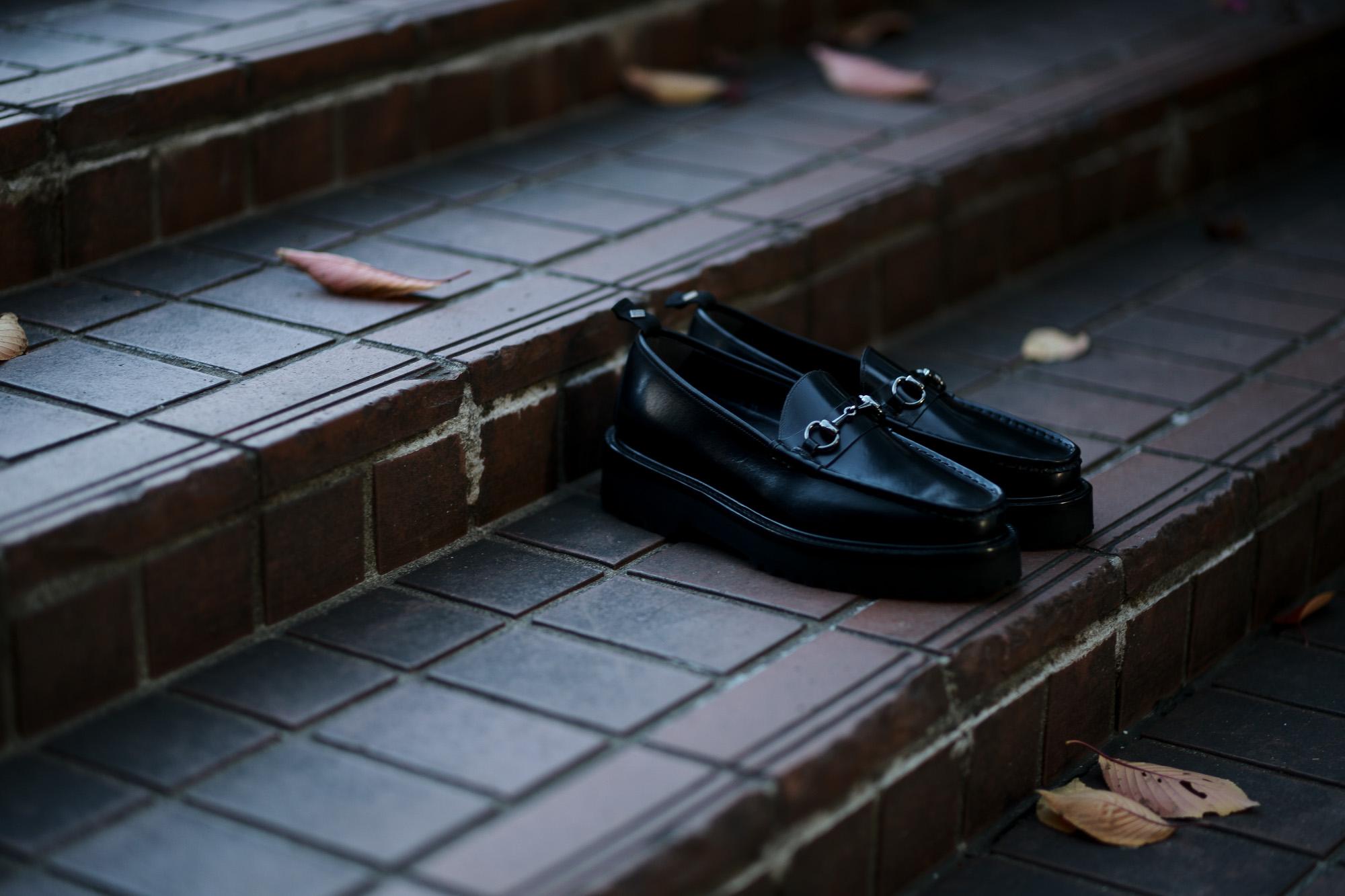 WH (ダブルエイチ) WHZ-0504 Bit Loafer (干場氏 別注 店舗限定 スペシャル モデル) TOOL-442 Last (トゥルー 442 ラスト) ANNONAY Vocalou Calf Leather ビットローファー ALL BLACK (オールブラック・BLK) MADE IN JAPAN(日本製) 2018秋冬 【限定スペシャルモデル】  愛知 名古屋 Alto e Diritto アルトエデリット yoshimasahoshiba 干場スペシャル 干場義雅 坪内浩 坪内 forzastyle フォルザスタイル