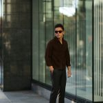 Alfredo Rifugio (アルフレード リフージオ) SS326 CAMOSCIO Summer Suede Leather Shirts サマースウェード レザーシャツ BROWN (ブラウン) made in italy (イタリア製) 2019 春夏 【ご予約受付中】のイメージ