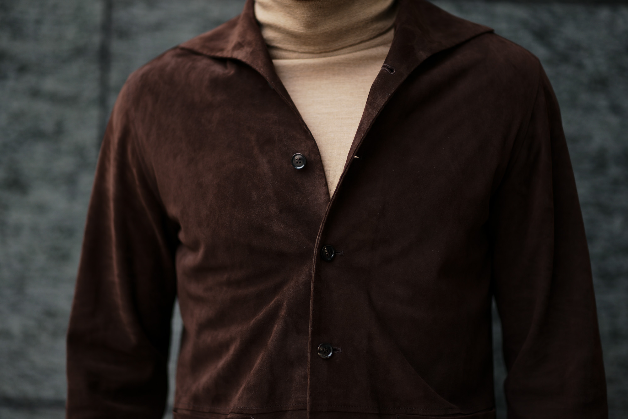 Alfredo Rifugio (アルフレード リフージオ) SS326 CAMOSCIO Summer Suede Leather Shirts サマースウェード レザーシャツ BROWN (ブラウン) made in italy (イタリア製) 2019 春夏 【ご予約受付中】 alfredorifujio アルフレードリフージオ 愛知 名古屋 Alto e Diritto アルト エ デリット alto e diritto アルトエデリット レザージャケット 素肌にレザー 42,44,46,48,50,52