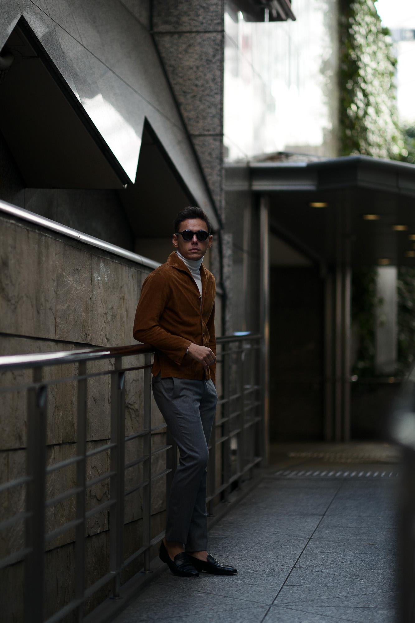 Alfredo Rifugio (アルフレード リフージオ) SS326 CAMOSCIO Summer Suede Leather Shirts サマースウェード レザーシャツ CAMEL (キャメル) made in italy (イタリア製) 2019 春夏 【ご予約受付中】alfredorifujio アルフレードリフージオ 愛知 名古屋 Alto e Diritto アルト エ デリット alto e diritto アルトエデリット レザージャケット 素肌にレザー 42,44,46,48,50,52