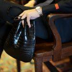 Cisei × 山本製鞄 (シセイ × 山本製鞄) Crocodile Bag(クロコダイルバック) Nile Crocodile Leather (ワニ革) ナイル クロコダイル レザードローストリングバック 巾着  BLACK(ブラック)  Made in Japan (日本製) 2019 春夏新作 【超絶 限定モデル】のイメージ