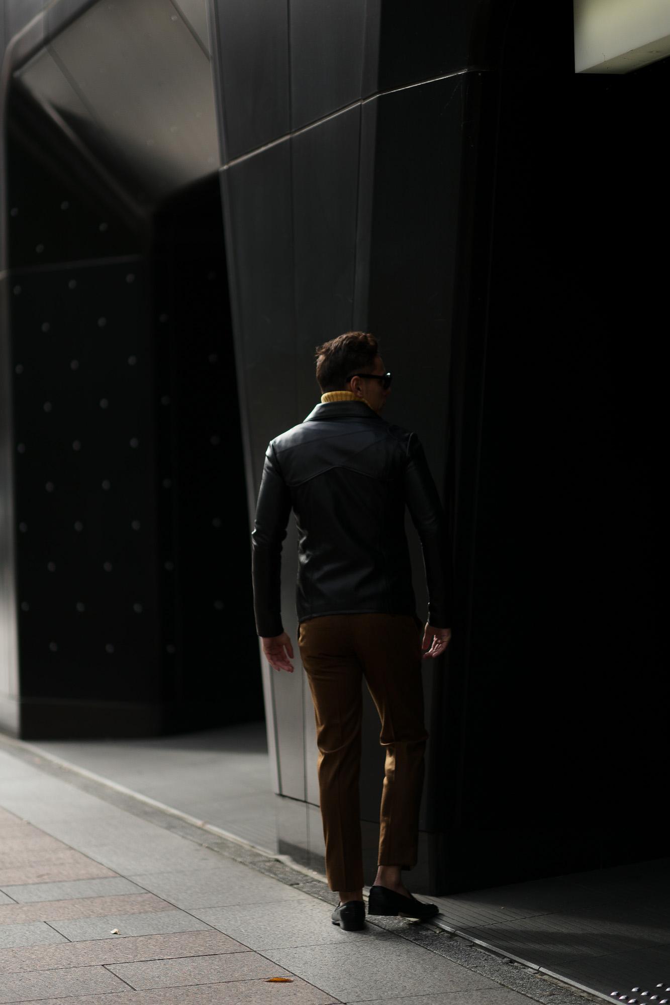 Cuervo (クエルボ) Satisfaction Leather Collection (サティスファクション レザー コレクション) East West(イーストウエスト)  SMOKE(スモーク) BUFFALO LEATHER (バッファロー レザー) レザージャケット BLACK(ブラック) MADE IN JAPAN (日本製) 2019 春夏 【ご予約受付中】 愛知 名古屋 altoediritto アルトエデリット 洋服屋 レザージャケット サウスパラディソ eastwest