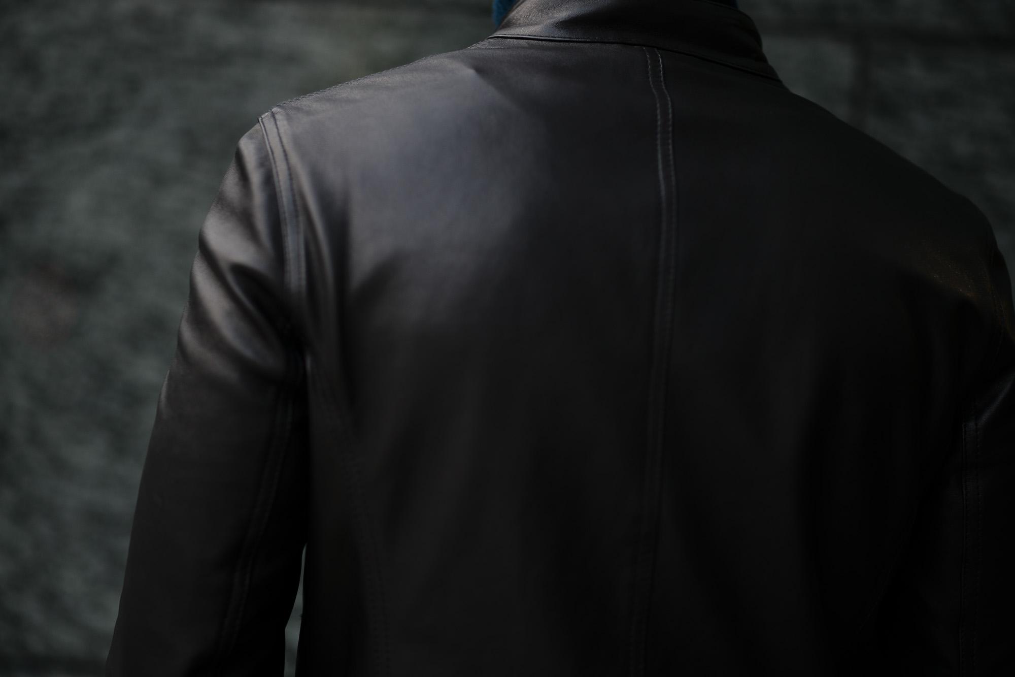 EMMETI(エンメティ) JURI(ユリ) Lambskin nappa Leather シングルライダース レザージャケット NERO (ブラック) made in italy (イタリア製) 2019 春夏【2019年春夏第1便ご予約受付中】 愛知 alto e diritto アルトエデリット altoediritto 干場さん 干場着 ユーリ