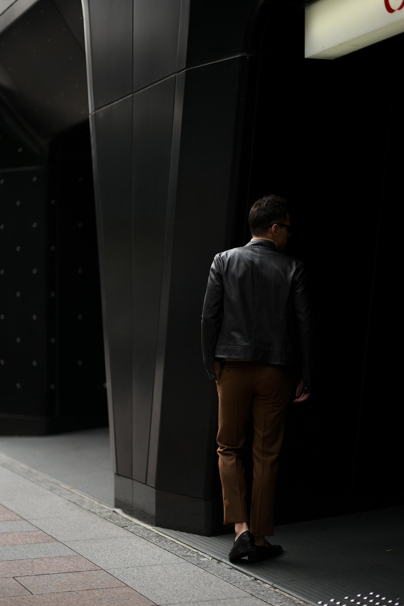EMMETI(エンメティ) JURI(ユリ) Lambskin nappa Leather シングルライダース レザージャケット NERO (ブラック) made in italy (イタリア製) 2019 春夏【2019春夏第1便入荷しました】【2019春夏フリー分販売開始】愛知 alto e diritto アルトエデリット altoediritto 干場さん 干場着 ユーリ