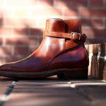 ENZO BONAFE (エンツォボナフェ) ART.EB-13 Jodhpur boots BONAUDO MUSEUM CALF LEATHER ボナウド社ミュージアムカーフレザー ジョッパーブーツ NEW GOLD (ニューゴールド) made in italy (イタリア製)のイメージ