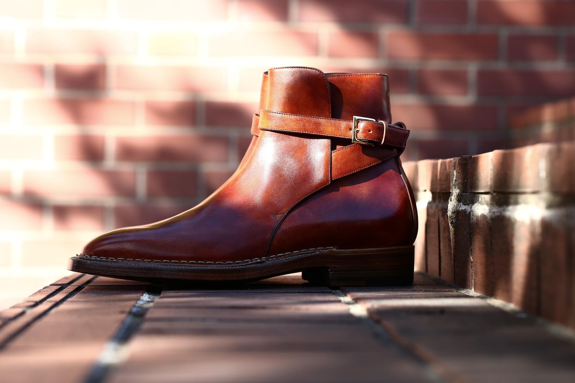 ENZO BONAFE (エンツォボナフェ) ART.EB-13 Jodhpur boots BONAUDO MUSEUM CALF LEATHER ボナウド社ミュージアムカーフレザー ジョッパーブーツ NEW GOLD (ニューゴールド) made in italy (イタリア製) enozbonafe eb13 ジョッパーブーツ ブーツ 愛知 名古屋 Alto e Diritto アルト エ デリット