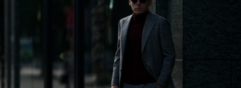LARDINI (ラルディーニ) SARTORIA (サルトリア) フラノウール生地 ブリティッシュ グレンチェック スーツ GRAY (グレー・11) 2018 秋冬新作のイメージ