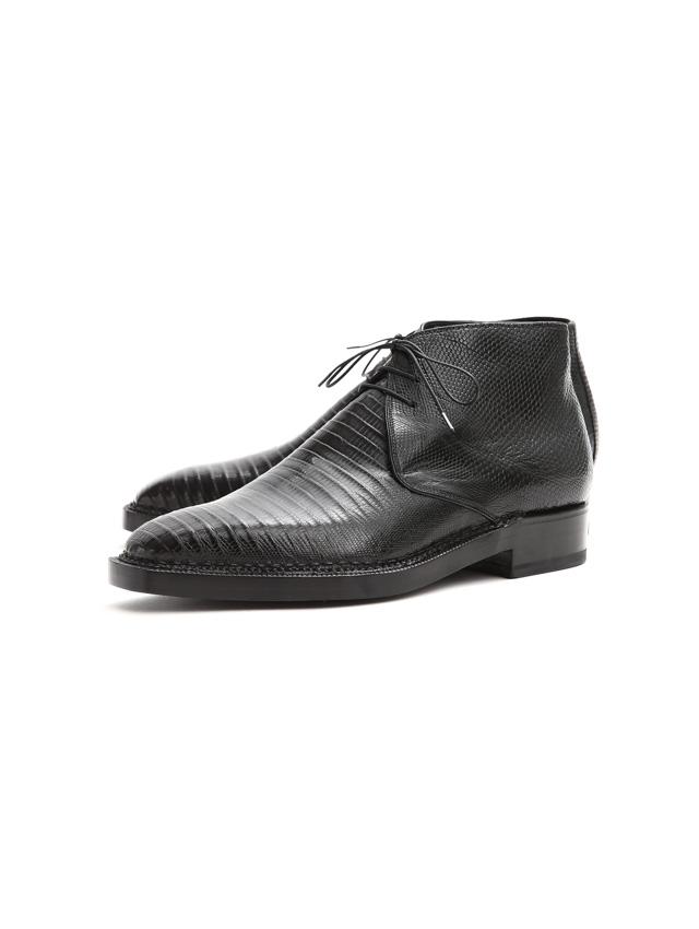 ENZO BONAFE (エンツォボナフェ) ART.3722 Chukka boots TEJUS (テジュー) リザードレザー チャッカブーツ TEJUS NERO (ブラック) made in italy (イタリア製) 2019 秋冬