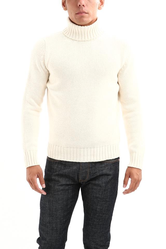 ZANONE (ザノーネ) Cashmere Turtle Neck Sweater (カシミア タートルネックセーター) ミドルゲージ カシミア ニット セーター OFF WHITE (オフホワイト・Z4918) made in italy (イタリア製) 2018 秋冬新作