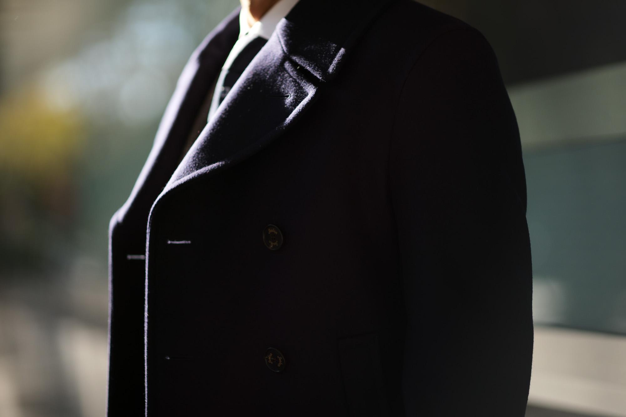 Sealup(シーラップ) GENOVA(ジェノバ) 50002 7591 01 メルトンウール サーモアライニング ロングPコート  NAVY (ネイビー・01) MADE IN ITALY(イタリア製) 2019 秋冬 【ご予約開始します】 シーラップ 愛知 名古屋 Alto e Diritto アルト エ デリット Pコート コート coat