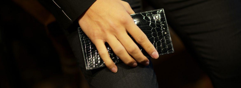 STEFANO RICCI (ステファノリッチ) Crocodile Long Wallet (クロコダイル ロング ウォレット) Crocodile Leather (ワニ革) レザーウォレット 長財布 BLACK (ブラック) Made in italy (イタリア製) 2019 春夏新作のイメージ