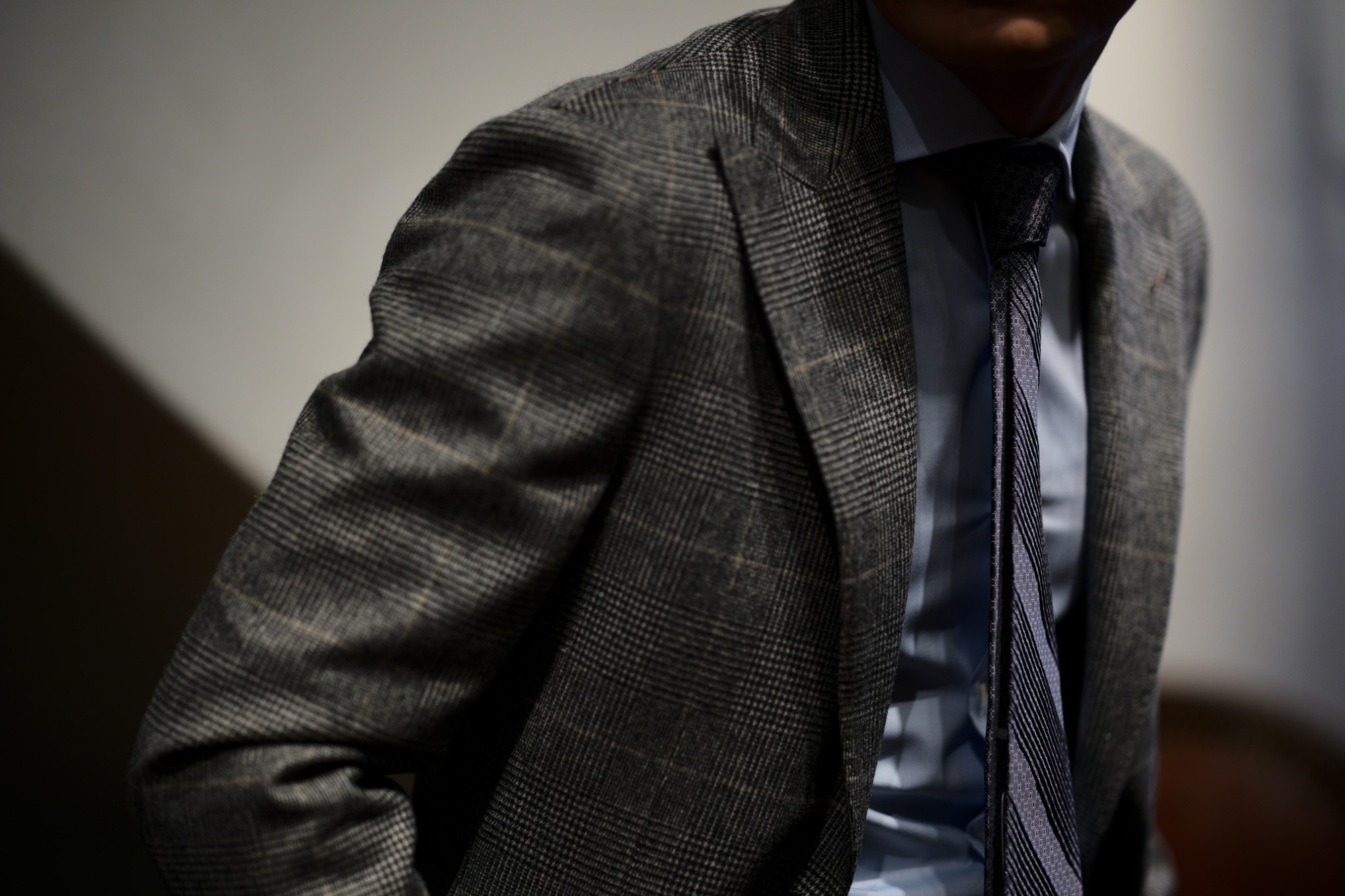 STEFANO RICCI (ステファノリッチ) PLEATS TIE (プリーツタイ) シルク プリント プリーツ ネクタイ BLACK×GRAY (ブラック×グレー) Made in italy (イタリア製) 2018 秋冬新作 stefanoricci 愛知 名古屋 alto e diritto アルトエデリット altoediritto