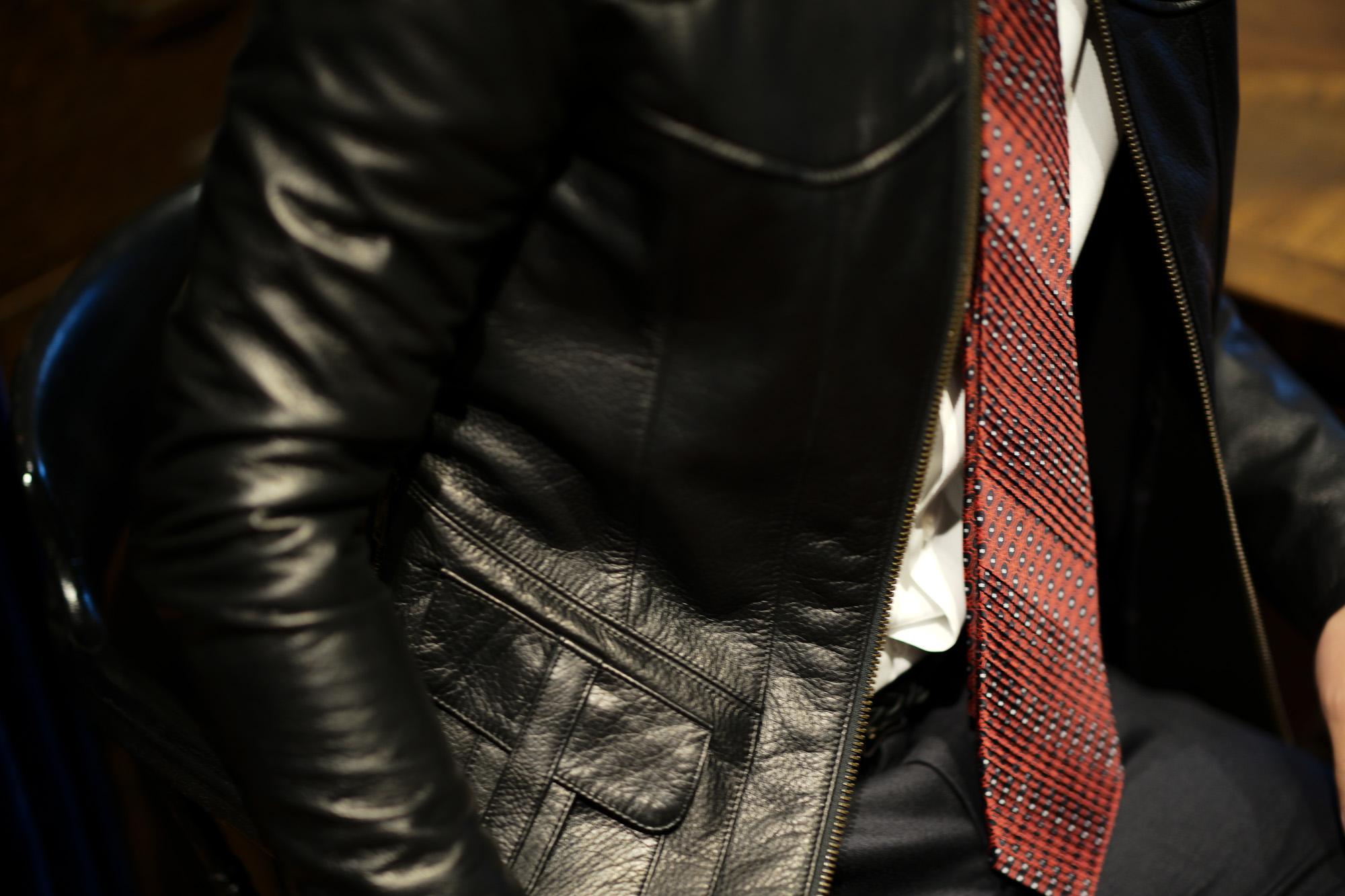 STEFANO RICCI (ステファノリッチ) PLEATS TIE (プリーツタイ) シルク プリント プリーツ ネクタイ RED (レッド) Made in italy (イタリア製) 2018 秋冬新作 stefaboricci 愛知 名古屋 altoediritto アルトエデリット タイ
