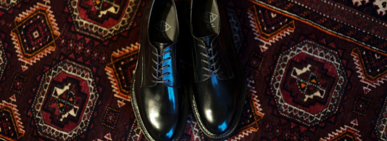 WH(ダブルエイチ) WHS-0006 Plane Toe Shoes (干場氏 スペシャル モデル) Birdie Last(バーディラスト) ANNONAY Vocalou Calf Leather プレーントゥ シューズ BLACK(ブラック) MADE IN JAPAN(日本製) 2019年 春夏新作【1月下旬入荷分入荷しました】【フリー分販売開始】wh 干場さん 干場スペシャル FORZASTYLE フォルザスタイル 愛知 名古屋 Alto e Diritto アルト エ デリット