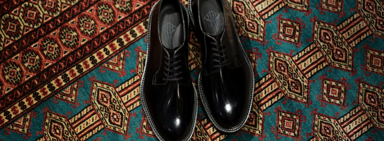 WH (ダブルエイチ) WHZ-0010 Cordovan Plane Toe Shoes (干場氏 スペシャル Zモデル) Birdie Last (バーディラスト) Shell Cordovan シェルコードバンレザー プレーントゥシューズ BLACK (ブラック) MADE IN JAPAN (日本製) 2019 春夏【Special限定モデル】【2019春夏分発売中】のイメージ