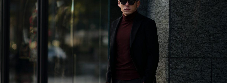 Cuervo (クエルボ) Sartoria Collection (サルトリア コレクション) Lobb (ロブ) Cashmere カシミア 3B ジャケット BLACK (ブラック) MADE IN JAPAN (日本製) 2019 春夏新作 【第1便ご予約受付中】のイメージ