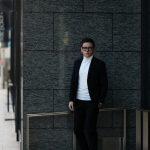 Cuervo (クエルボ) Sartoria Collection (サルトリア コレクション) Rooster (ルースター) STRETCH COTTON ストレッチコットン スーツ BLACK (ブラック) MADE IN JAPAN (日本製) 2019 春夏新作 【第1便ご予約受付中】のイメージ