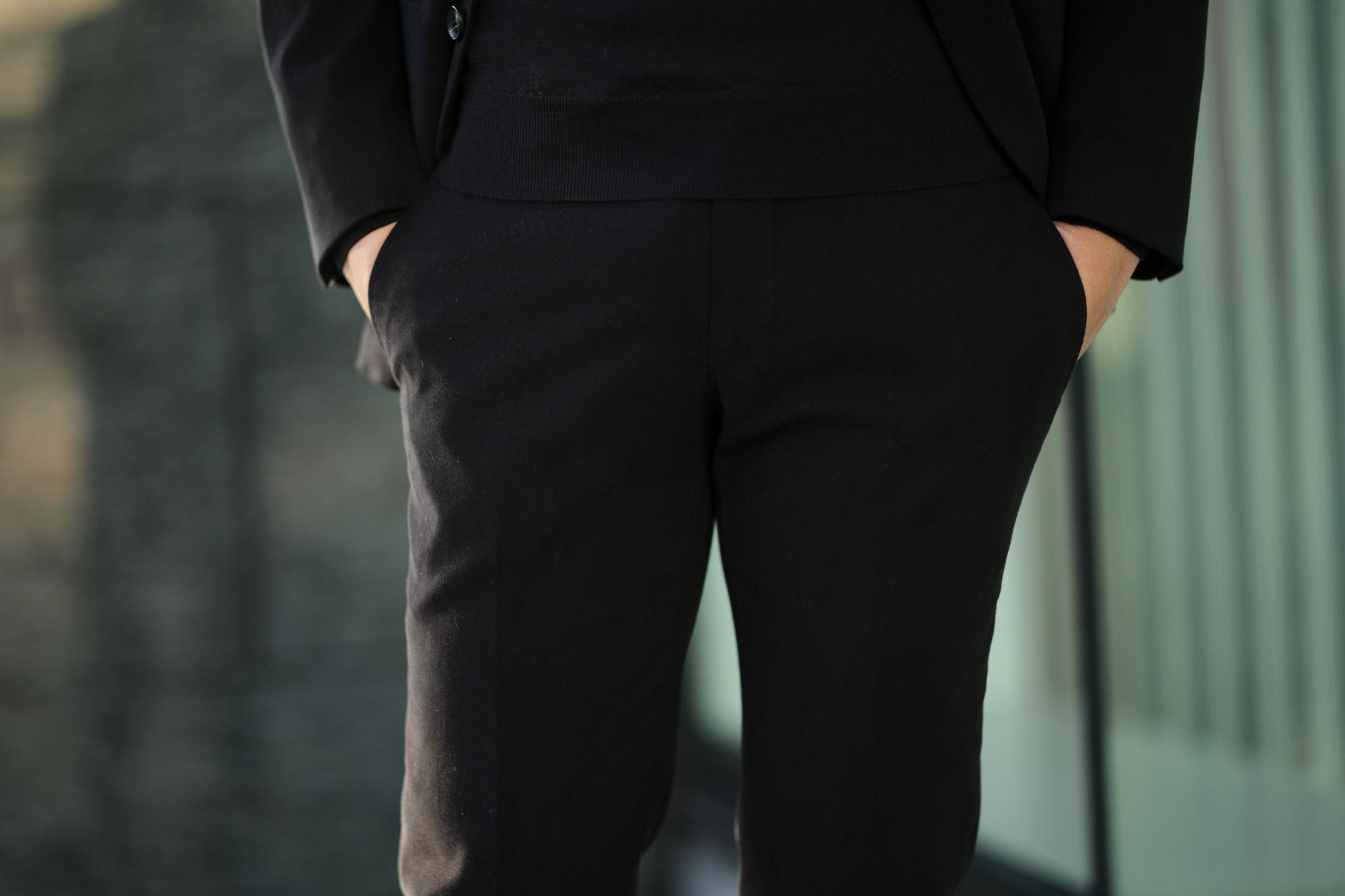 Cuervo (クエルボ) Sartoria Collection (サルトリア コレクション) Rooster (ルースター) STRETCH COTTON ストレッチコットン スーツ BLACK (ブラック) MADE IN JAPAN (日本製) 2019 春夏新作 【第1便ご予約受付中】alto e diritto アルトエデリット