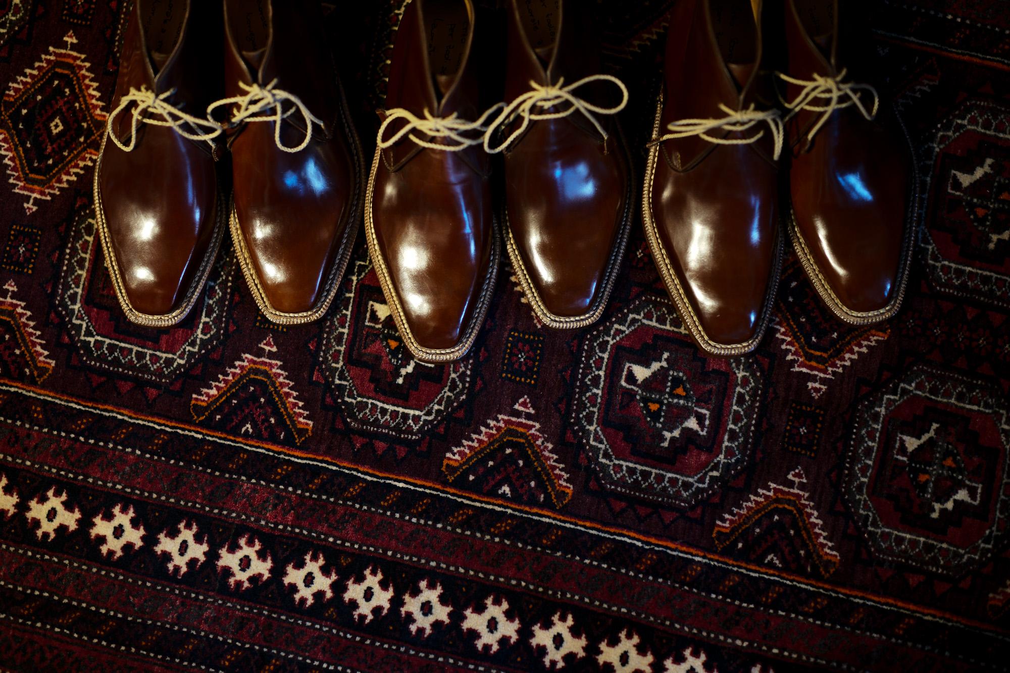 ENZO BONAFE(エンツォボナフェ) ART.3722 Chukka boots チャッカブーツ Horween Shell Cordovan Leather ホーウィン社 シェルコードバンレザー ノルベジェーゼ製法 チャッカブーツ コードバンブーツ No.4(#4)  made in italy (イタリア製) 2019 春夏新作 【Special Model】 enzobonafe 愛知 名古屋 altoediritto アルトエデリット