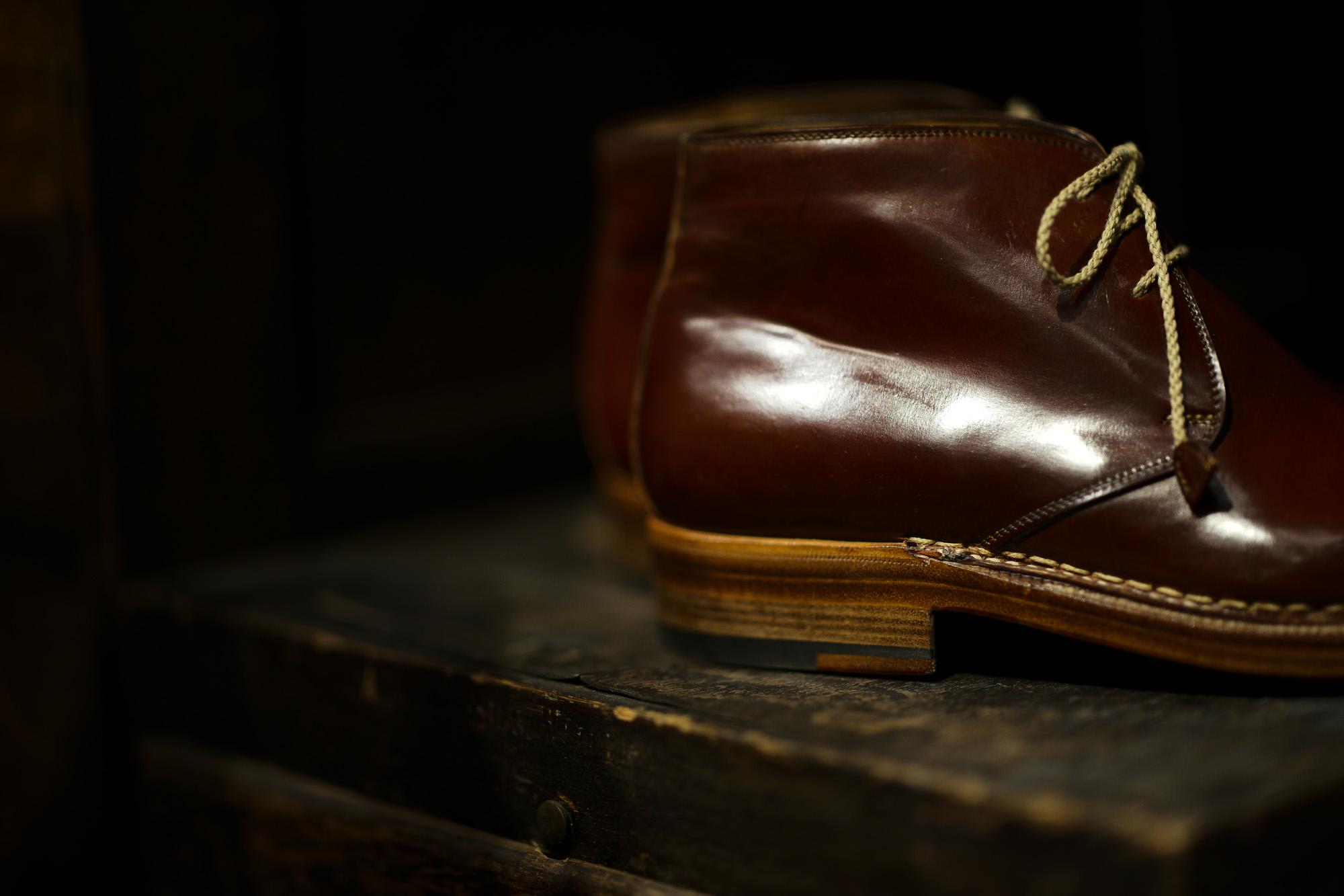 ENZO BONAFE(エンツォボナフェ) ART.3722 Chukka boots チャッカブーツ Horween Shell Cordovan Leather ホーウィン社 シェルコードバンレザー ノルベジェーゼ製法 チャッカブーツ コードバンブーツ No.4(#4)  made in italy (イタリア製) 2019 春夏新作 【Special Model】enzobonafe 愛知 名古屋 altoediritto アルトエデリット