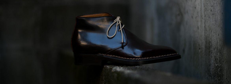 ENZO BONAFE(エンツォボナフェ) ART.3722 Chukka boots チャッカブーツ Horween Shell Cordovan Leather ホーウィン社 シェルコードバンレザー ノルベジェーゼ製法 チャッカブーツ コードバンブーツ No.8(バーガンディー)  made in italy (イタリア製) 2019 秋冬のイメージ