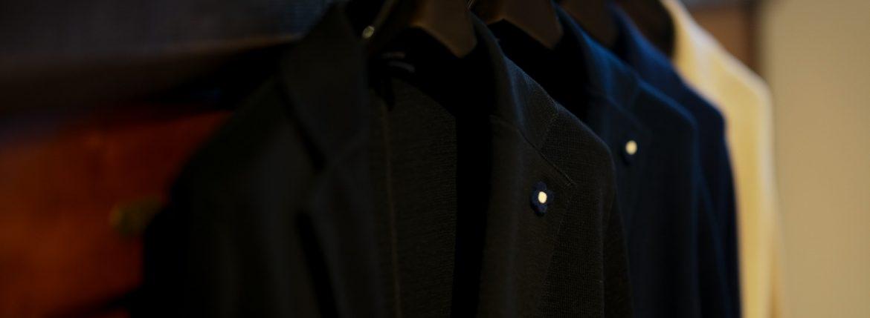 LARDINI(ラルディーニ)Milano Rib ミラノリブ コットン ソリッド 2B ニットジャケット BLACK(ブラック・999) , NAVY(ネイビー・850) , BLUE(ブルー・820) , BEIGE(ベージュ・200) 2019 春夏新作のイメージ
